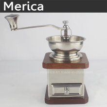 Stainless Steel Manual Coffer Grinder with Adjustable Ceramic Burr