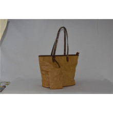 New Design Tyvek with PU Lady Tote Handbag Zxk1507
