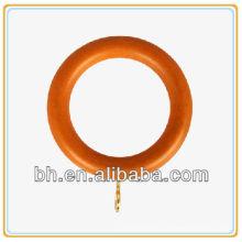 Деревянное кольцо занавеса карниза, зажим кольца занавеса карниза, декоративные деревянные кольца занавеса