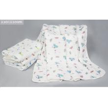 Manta de niños con toalla de bebé de tela de capas de 6 capas con 110X110cm