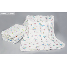 6 Layers Gauze Cloth Baby Towel Kids Blanket with 110X110cm