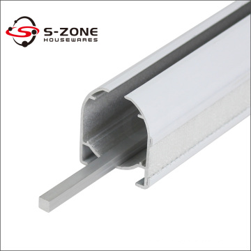 Aluminum roman curtain track for roller blind