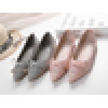 Preço baixo Senhora Fancy Ballerina Sapatos Atacado Punched Ballet Flat Shoes