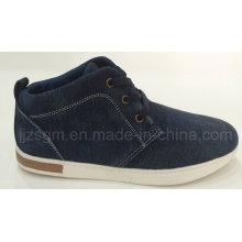Zapatos ocasionales del dril de algodón lavado alto superior de la manera