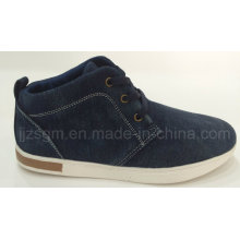 Fashion High Top Washed Denim Casual Shoes