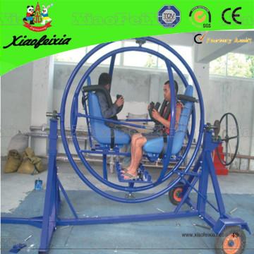 Blaues Farbgyroskop mit Sicherheitsnetz