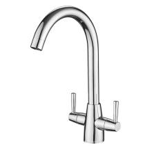 A0043B Modern design chrome brass kitchen faucet,Deck mounted kitchen sink mixer,Single hole brass kitchen sink mixer tap