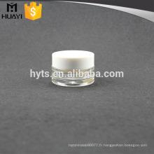 Ensemble cosmétique de haute qualité en plastique transparent de 20 ml