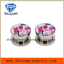 Stainless Steel Double Flare Ear Plug (SPG1831)
