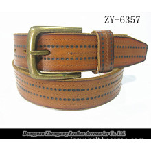 Camel Color Active Real Leather Man Cowhide Belt (ZY-6357)
