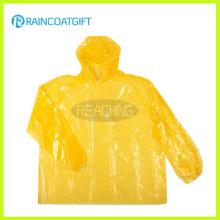 Impermeable desechable barato de PE (RVC-126)