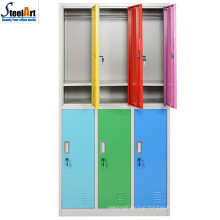 Good quality hot sale school used 6 door antique wardrobe made in luoyang
