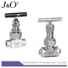 Válvula de agulha de alta pressão de aço inoxidável