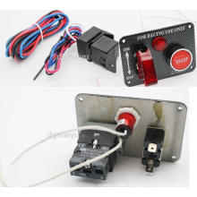 Car Truck Marine Toggle Switch Panel Engine Start Push Button Switch Panel