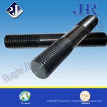Tous les goujons à double extrémité avec zinc noir fabriqués en Chine Jinrui