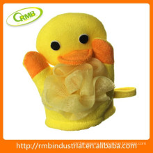 17*18cm baby toy duck shower puff bath sponge wholesale