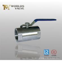 Válvula de bola roscada CF8 con extremo roscado