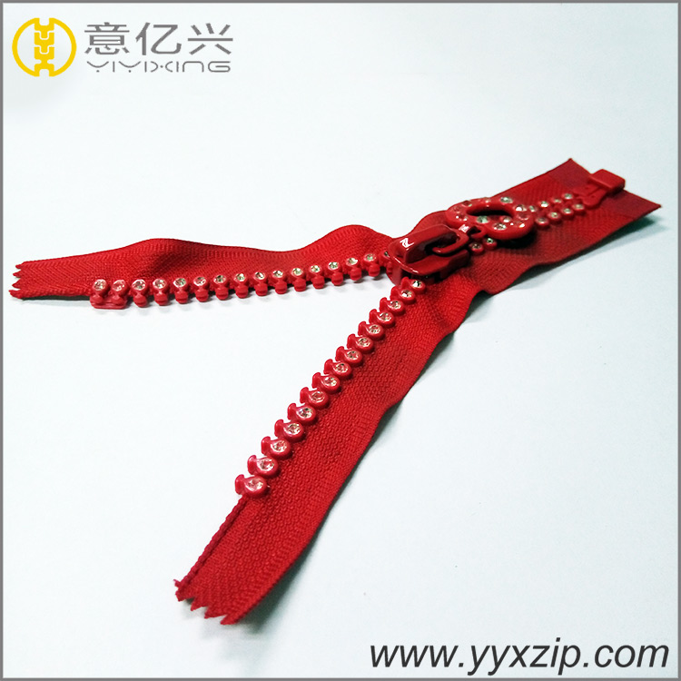 Rhinestone Zipper For Garments