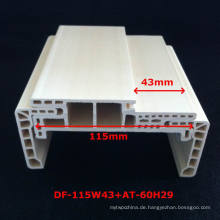 Neue Ankunft eine Art WPC Tür-Rahmen-Laminat-Tür-Profil-Tür-Tasche stark und Durabale Df-115W43