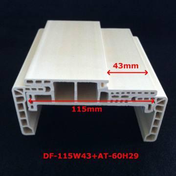 Neue Ankunft eine Art WPC Türrahmen Laminat Tür Profiltür Tasche Starke und Durabale Df-115W43