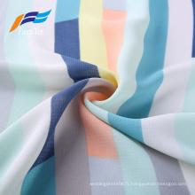 Tissu de robes de filles imprimé 100% polyester coloré