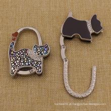 Promoção Presentes Custom Dog Shaped Purse Hook para senhoras