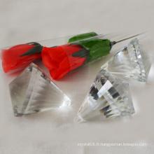 Perle de verre cristal transparent bon marché