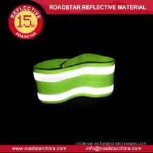 Material elástico reflectante pulsera de 100% poliéster