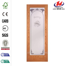 Grill Glass Design Self Closing Interior Sliding Door