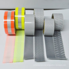 Customized Pattern Size Silver Heat Transfer Reflective Vinyl Film Strip Tape for Clothing