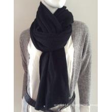 Леди мода черный кашемир вязаный шарф (YKY4387-1)