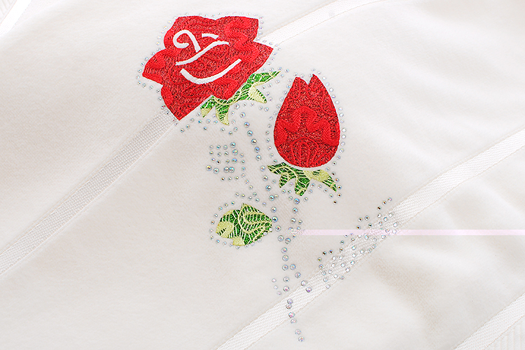 Cotton Bath Towels embroidery rose