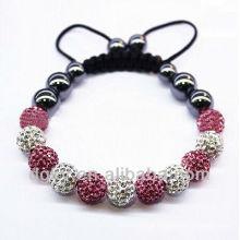 Shamballa Pulseira Rhinestone argila bracelete frisado pulseira artesanal