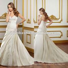 Vestido de noiva com decote de coração doce