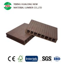 Suelo al aire libre hueco impermeable de WPC con alta calidad (HLM18)