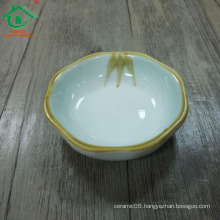 Flower shape italian porcelain baking sauce dish