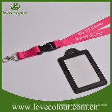 Custom leather both sides card holder for exhibition