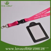 Пользовательский кожаный держатель карты с обеих сторон для выставки