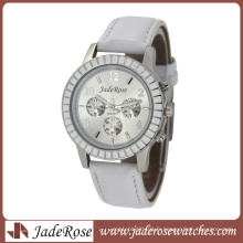 Montre à Quartz Movt en Cuir Véritable Japon Fashion Alloy