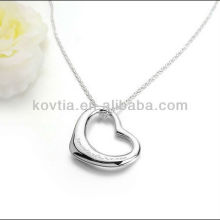 Charming 925 sterling silver heart shape pendant