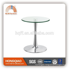 ET-23-1 glass stainless steel meeting coffee table