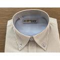 Male 100% cotton yarn dyed stripe shirt