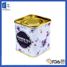 Square Personalised Coffee Tin Can With Lid