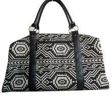 Men's duffel bag, made of Aztec canvas with pvc