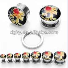 Elegant girl piercing ear plug fashion ear jewelry