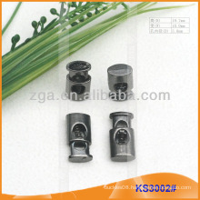Metal cord stopper or toggle for garments,handbags and shoes KS3002