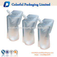 ODM 150ml 300ml energy drink spout pouch reusable juice spout pouch with bottom ziplock