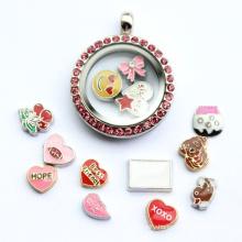 Fashion Jewelry Personalize Locket Diamond Stones Necklace Pendant
