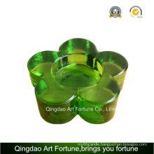 Small Glass Tealight Candle Holder Flower Shape Supplier