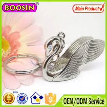 on Promotion! CZ Stone Crystal Swan Keychain with Keyring